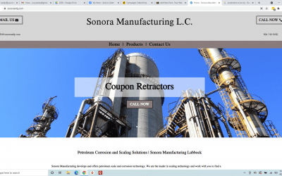 Sonora Manufacturing: New Website
